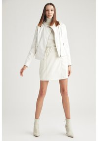 DeFacto - Faux leather jacket - white - 1