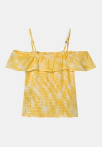 Abercrombie & Fitch - SMOCKED RUFFLE TUBE - Blouse - yellow - 2