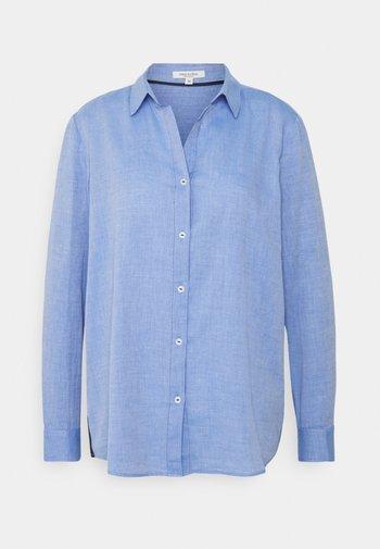BLOUSE TAPE  - Button-down blouse - blue