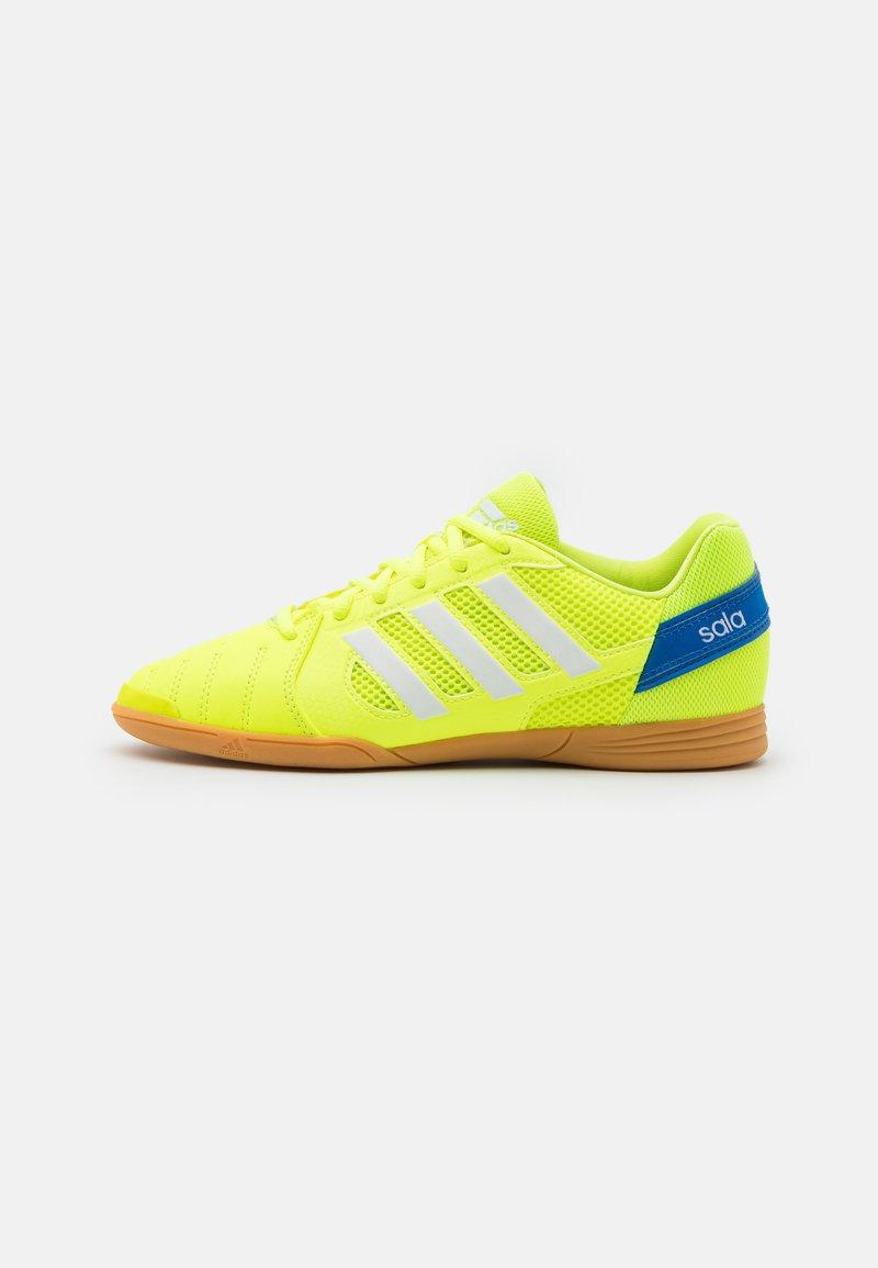 adidas Performance - TOP SALA UNISEX - Indoor football boots - solar yellow/footwear white/glow blue