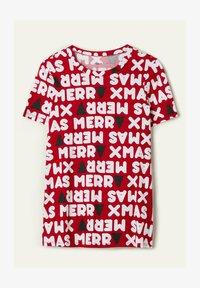 Tezenis - NATALE - Print T-shirt - aufdruck - dark red christmas print - 3