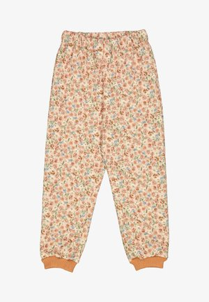 ALEX - Tracksuit bottoms - alabaster flowers