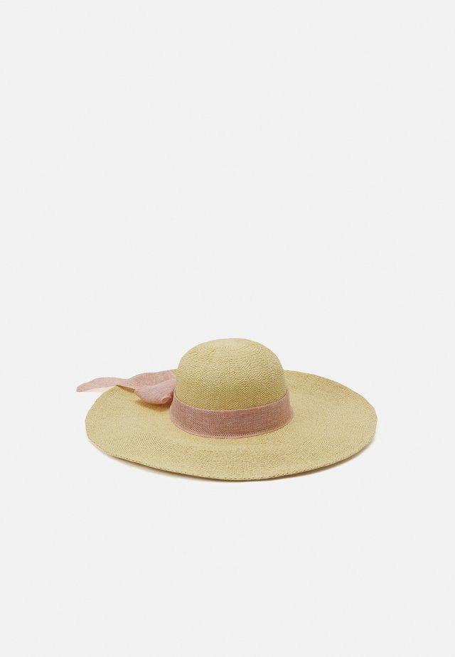 SAMANTHA FLOPPY BOW HAT - Klobouk - natural/blush