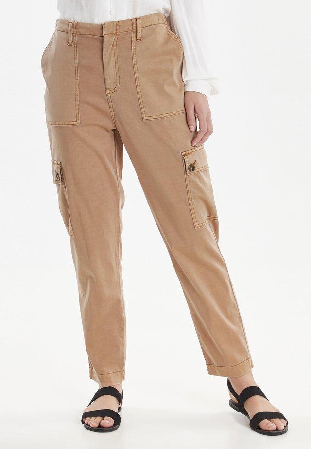 Trousers - safari brown