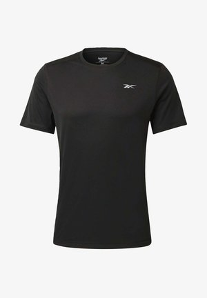 NIGHT RUN SHIRT - Basic T-shirt - black