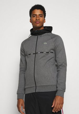 Zip-up hoodie - pitch chine/black/white