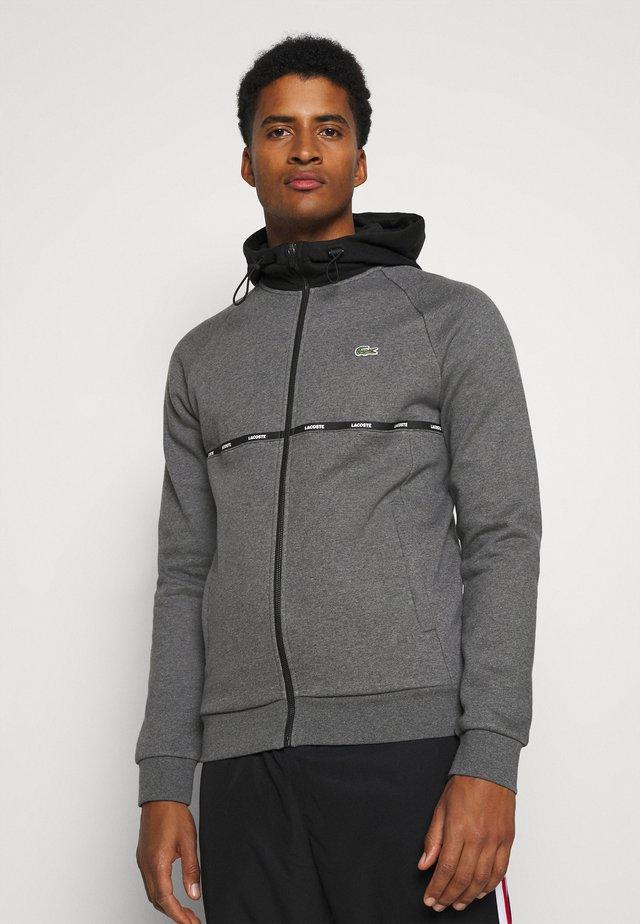 veste en sweat zippée - pitch chine/black/white