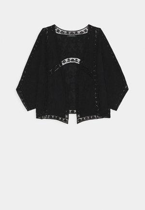 VALERIE EMBROIDERED KIMONO - Summer jacket - black