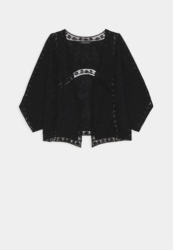 VALERIE EMBROIDERED KIMONO - Lehká bunda - black