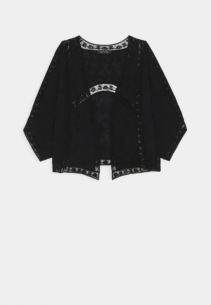 Forever New - VALERIE EMBROIDERED KIMONO - Summer jacket - black