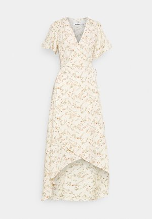 FLORAL MIDAXI WRAP TIE WAIST DRESS - Maxi dress - cream