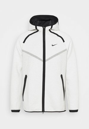 HOODIE  - Mikina na zip - light bone/black
