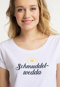 Schmuddelwedda - Print T-shirt - white - 3