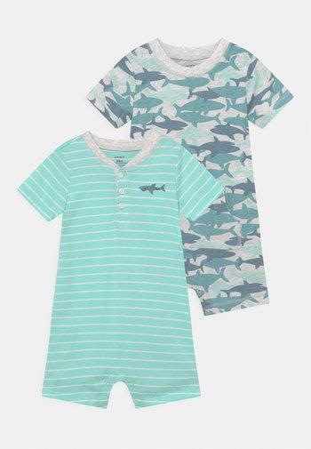 2 PACK - Jumpsuit - mint/blue