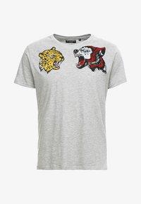 Brave Soul - Print T-shirt - grey - 3