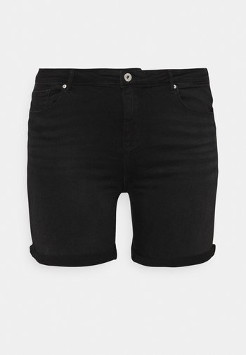 CARLAOLA LIFE - Denim shorts - black