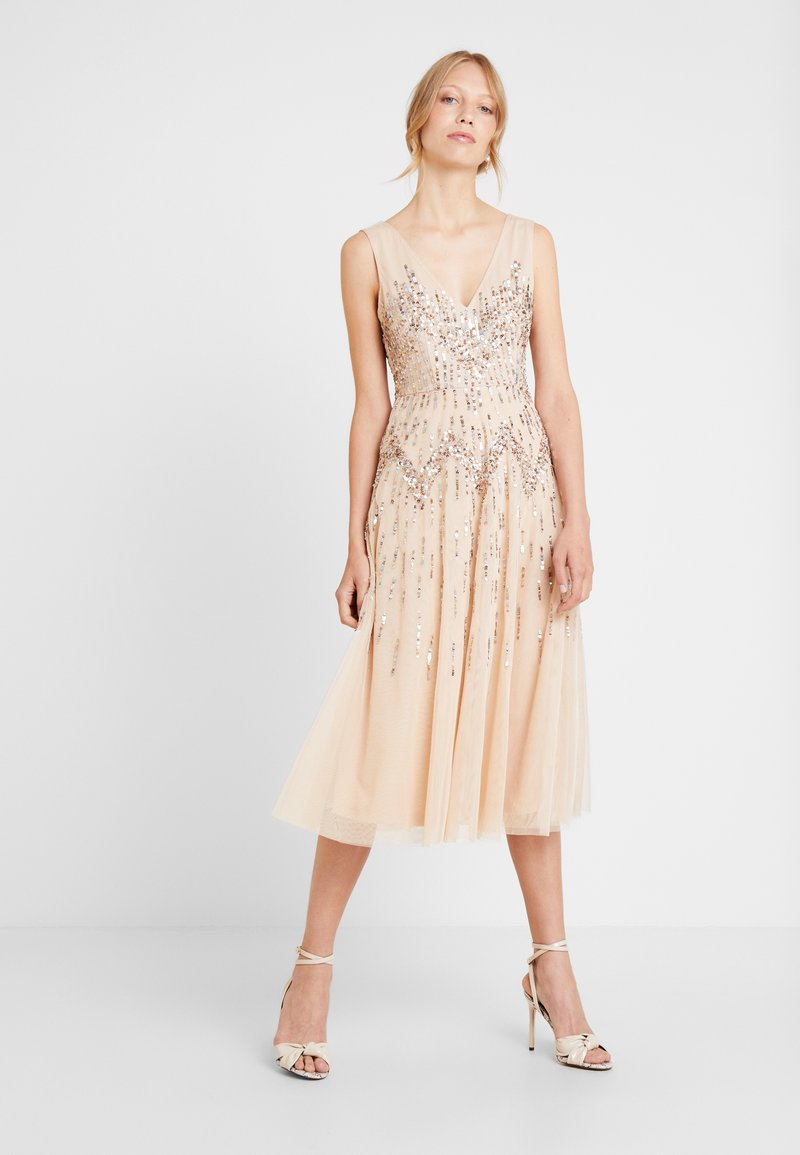 Lace & Beads - RUMI DRESS - Robe de soirée - nude