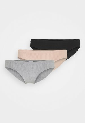 BRASILIANO BRIEF 3 PACK - Briefs - black/new latte/grey marle