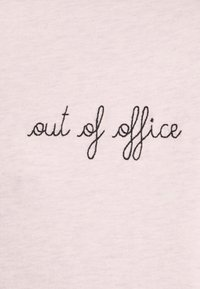 Maison Labiche - CLASSIC TEE OUT OF OFFICE - Triko spotiskem - heather pink - 2