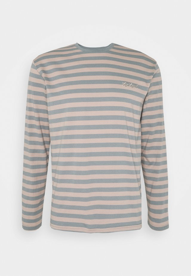 STRIPE - Long sleeved top - tan/monument