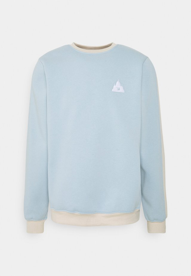 COLORBLOCK CREWNECK - Sweatshirt - blue