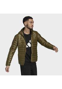 adidas Performance - VARILITE HOODED DOWN JACKET - Winter jacket - focus olive - 3