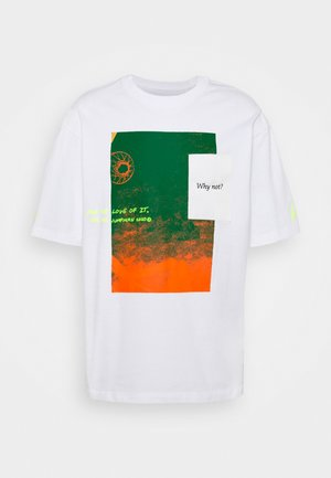 WHY NOT TEE - T-shirt con stampa - white