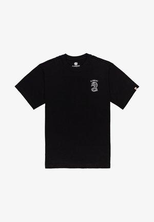 KARLOV - T-shirt print - flint black