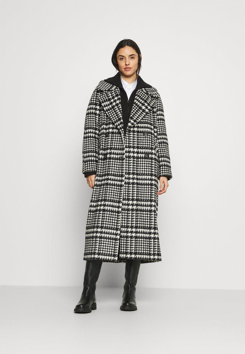 River Island - VALENCIAOVERSIZED COAT - Klasický kabát - black