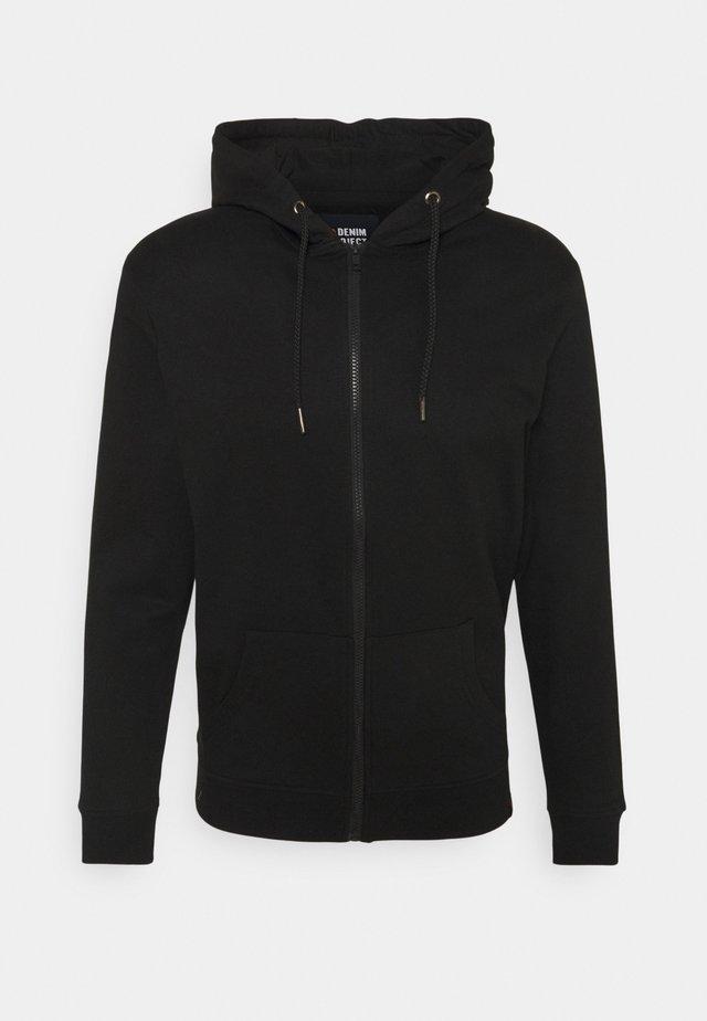 BASIC ZIP CARDIGAN - Zip-up sweatshirt - black