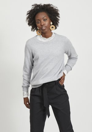 VIRIL O NECK - Jersey de punto - light grey melange