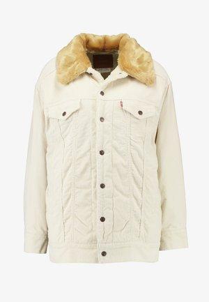 OVSZD  TRUCKER - Denim jacket - ecru wide wale