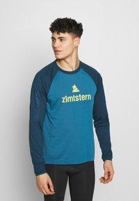 Zimtstern - PURE FLOWZ MEN - Tekninen urheilupaita - blue steel/french navy/mimosa - 0