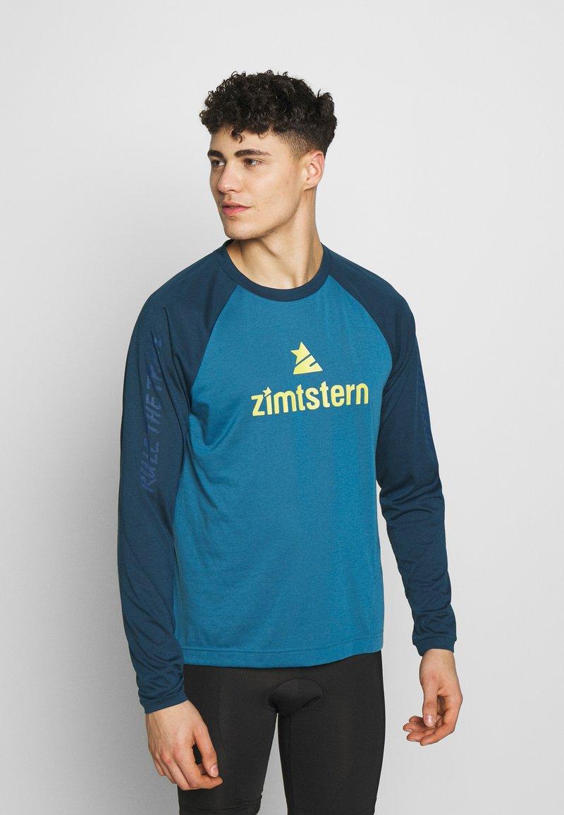 Zimtstern - PURE FLOWZ MEN - Tekninen urheilupaita - blue steel/french navy/mimosa