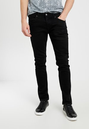 SUPER PIERS  - Jeans slim fit - black denim