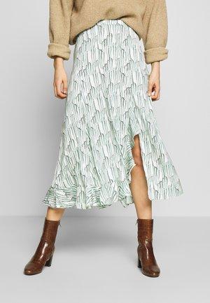 WISTERIA RUFFLE MIDI - A-line skirt - mint