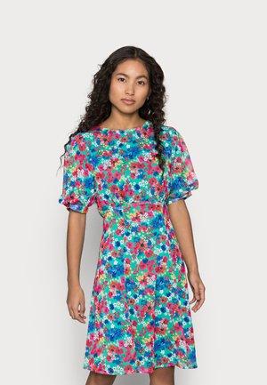 TIE BACK FLORAL PRINT MIDI DRESS - Denní šaty - multi coloured