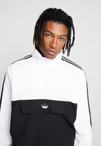 adidas Originals - OUTLINE ZIP - Windbreaker - black/white - 3