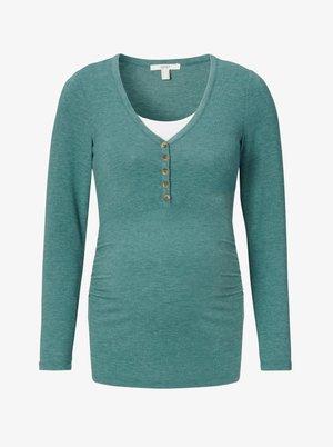 NURSING - Long sleeved top - teal green