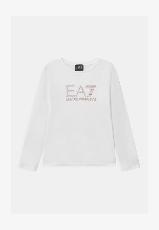 EA7  - Maglietta a manica lunga - white