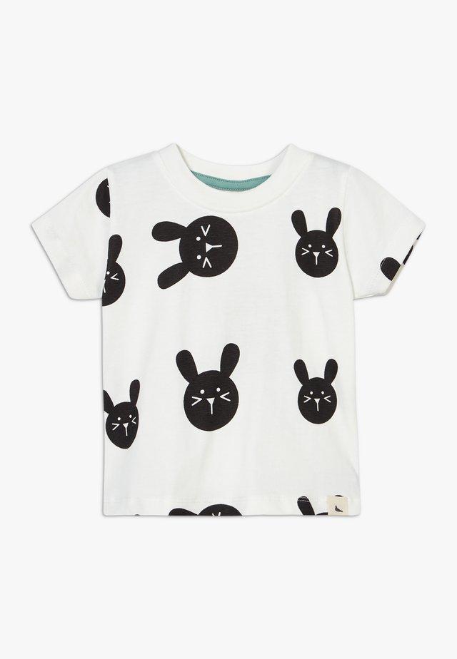 BUNNY PRINT BABY - T-Shirt print - white/black