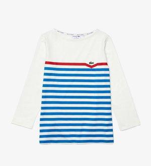 Long sleeved top - blanc / bleu / rouge