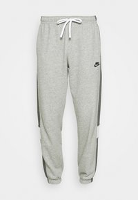 Nike Sportswear - Träningsbyxor - dark grey heather/charcoal heather/white/black - 4