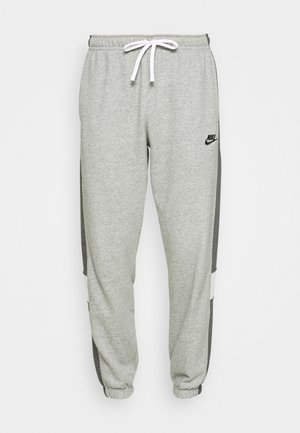 Tracksuit bottoms - dark grey heather/charcoal heather/white/black