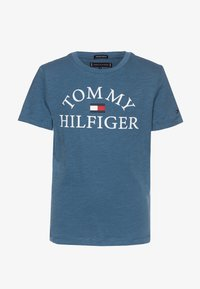 Tommy Hilfiger - ESSENTIAL LOGO - T-shirt z nadrukiem - blue - 0