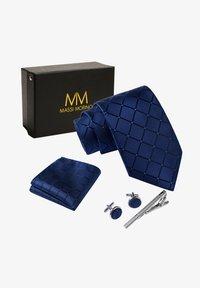 Massi Morino - 4 PIECE SET - Cravatta - blau quadrat - 2