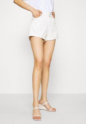 Denim shorts - white light ecru