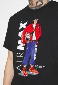 Nike Sportswear - TEE MANGA HYPEMAN - T-shirt med print - black - 4