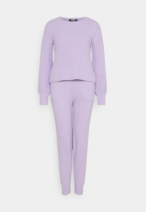 TEXTURED JUMPER AND JOGGER SET - Jumper - lilac