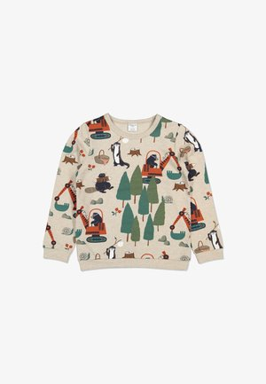 Sweatshirt - ecru melange
